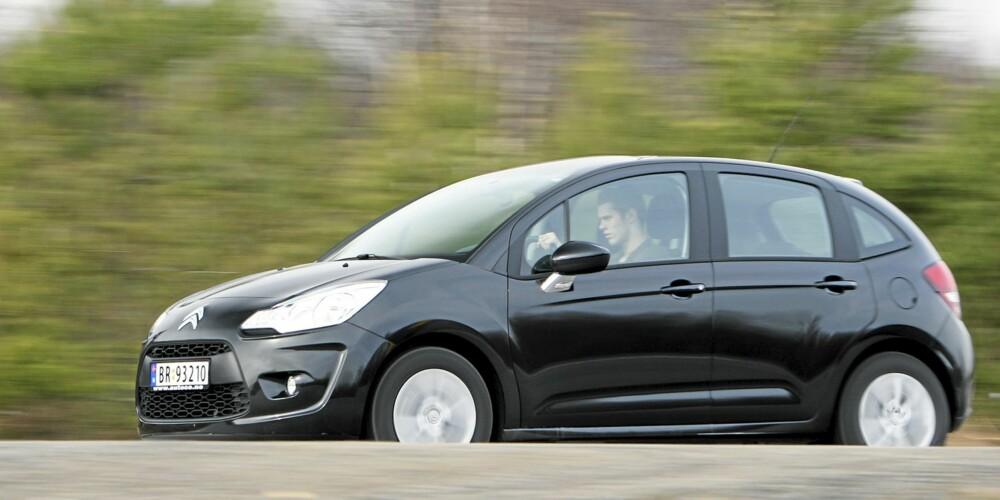 GLAD: Citroën C3 er en bil man blir glad i. Selv med liten dieselmotor.