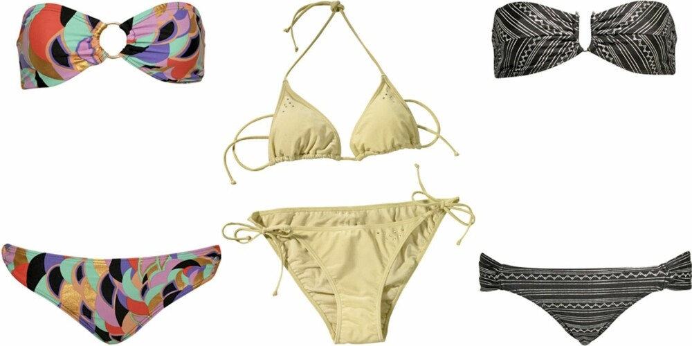 FRA VENSTRE: French Connection (kr 259), Gina Tricot (kr 79/79), Insight (kr 799).