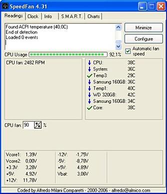 SPEEDFAN: Fra www.almico.com kan du laste ned Speedfan, som kan brukes til å konfigurere viftehastigheten på for eksempel prosessorviften.