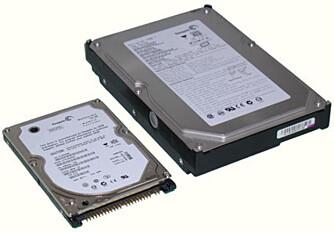 STØRRE VS MINDRE: Velger du en 2,5-tommers harddisk kan du regne med å få mindre harddiskstrøy.