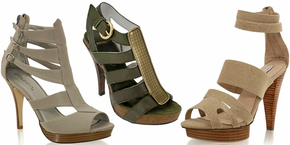 FRA VENSTRE: Nelly Shoes (kr 399), Bronx (kr 698), Mango (kr 699).
