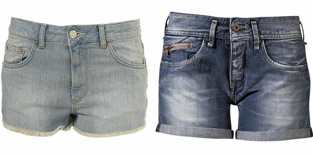 FRA VENSTRE: Tosphop (kr 245), Pepe Jeans (kr 899).