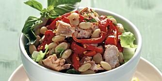 ONSDAG: Salat med sitron, laks og hvite bønner.