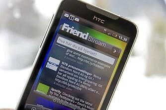SENSE: FriendStream er et av elementene når HTC setter sitt eget preg på Android med brukergrensesnittet Sense.