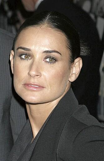 Kvadrat: Demi More har en kvadratisk ansiktsform.