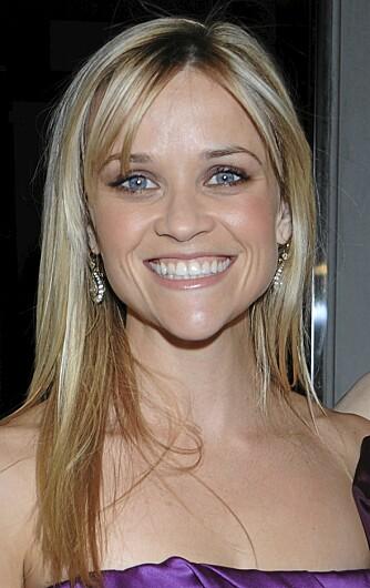 Hjerte: Reese Witherspoon har et hjerteformet ansikt.