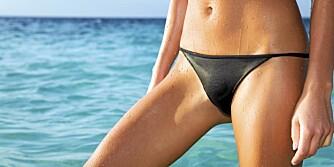 BIKINI: Minimale bikinier krever heftig voksing. Hva foretrekker du? Brasiliansk, en liten flystripe eller hva med et hjerte?