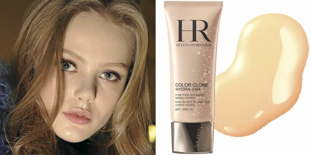 VAKKER HUD: På catwalken til Versace, Helena Rubinstein Color Clone Hydra-24H (kr 455), Lancôme Teint Miracle Foundation (kr 375).
