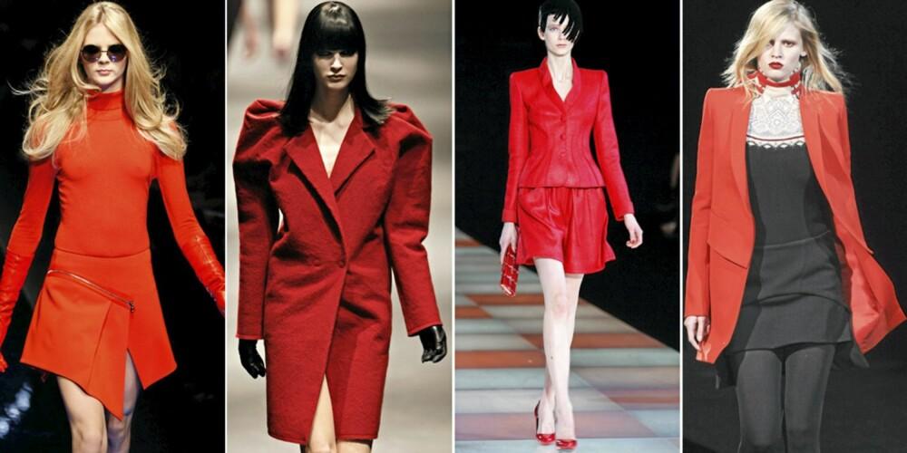 PÅ CATWALKEN: Versace, Lanvin, Armani og Givenchy.