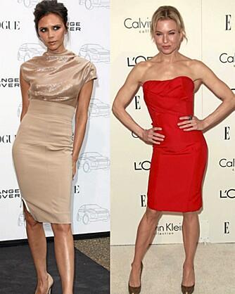 LANG OG SLANK: Selv om de fleste anser drømmekroppen som slank og atletisk, er det bare 2 prosent av leserne som ønsker seg kroppen til Victoria Beckham og Renee Zellweger.