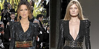 KJOLEDUELL: Hvem kler designerkjolen best, kejndisen eller modellen?