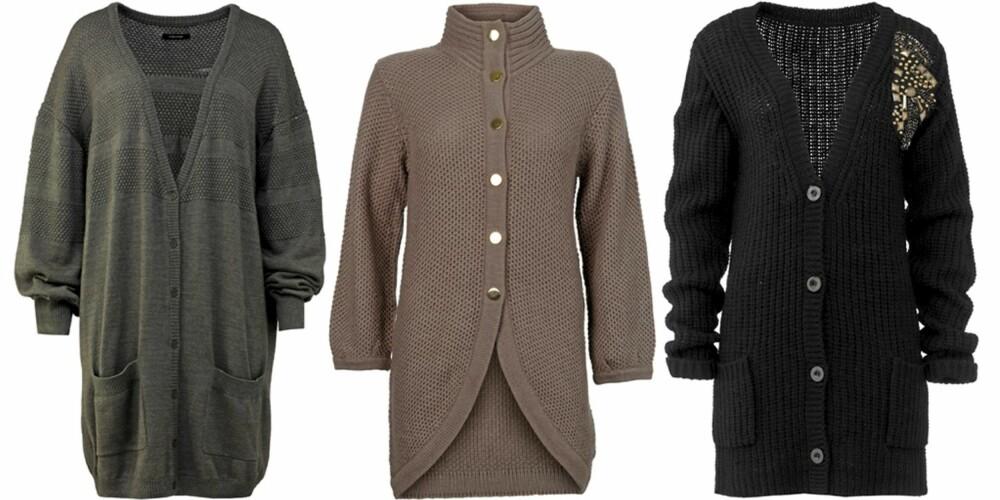 FRA VENSTRE: Samsøe Samsøe (kr 800), Vero Moda (kr 200), Cubus (kr 499).