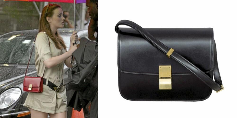 IT-VESKEN: Leighton Meester har skaffet seg årets trendveske, nemlig Classic Box Bag fra Céline.