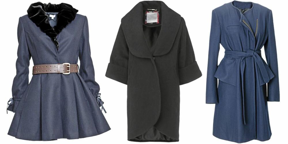 FRA VENSTRE: Hunky Dory (kr 3500), In Wear (kr 2499), H&M (kr 750).
