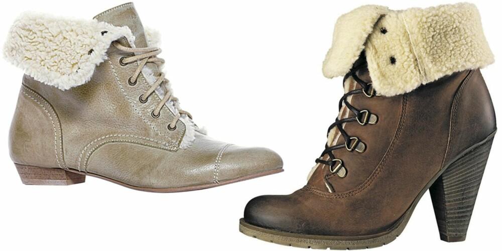 FRA VENSTRE: Next (kr 450), Shoe-D-Vision (kr 899).