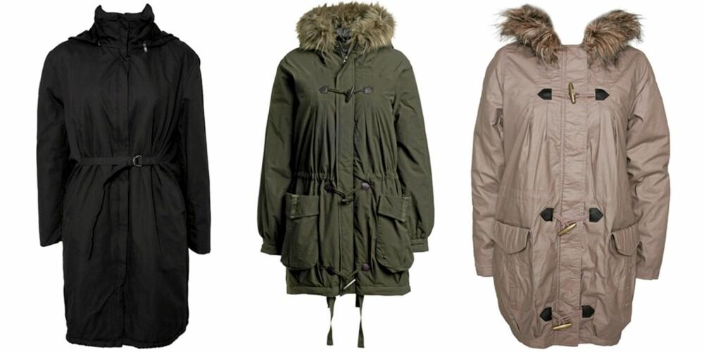 FRA VENSTRE: Cheap Monday (kr 1199), Ellos (kr 599), Vero Moda (kr 499).