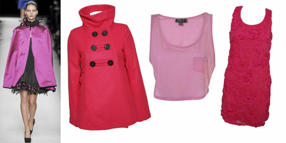 FRA VENSTRE: Yves Saint Laurent, jakke fra My By M (kr 1499), topp fra Topshop (kr 73), kjole fra Sisters Point (kr 499).