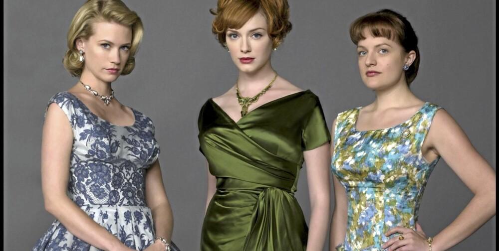 """INSPIRERER: TV-serien """"Mad Men"""" har vært med på å gjøre klesstilen fra 50- og 60-tallet populært igjen."""