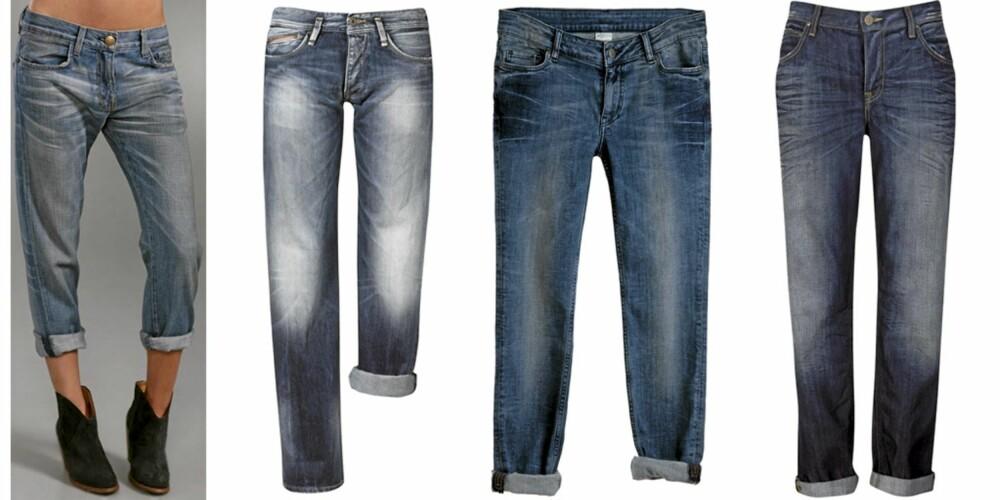 FRA VENSTRE: Curretn/Elliott (kr 1189), Pepe Jeans (kr 1199), Monki (kr 400), Lee (kr 899).