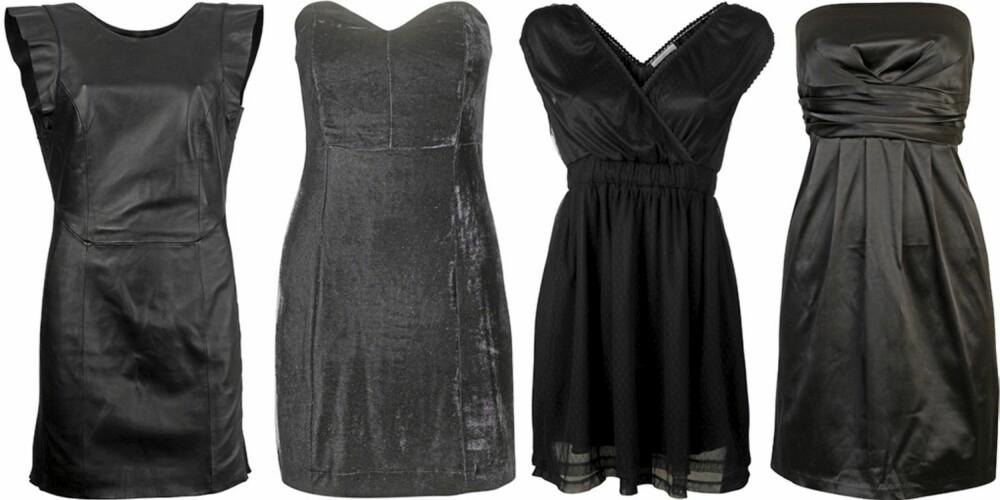 FRA VENSTRE: Vero Moda (kr 1250), Gina Tricot (kr 359), Only (kr 300), Cubus (kr 299).