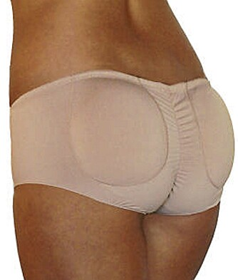 UNDERBUKSE MED INNLEGG:  Pure Style Girlfriends Bump-A-Booty Padded Panty skal gi deg større rumpe.