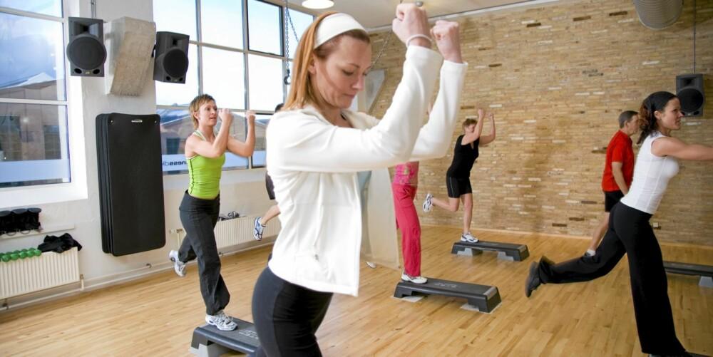 TRENING I SAL: Har du trøbbel å konsentrere deg om treningen, kan en saltime være løsningen.
