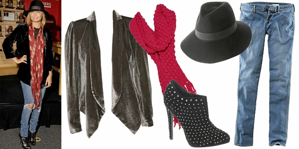 FRA VEBNSTRE: Blazer fra Dagmar (kr 3595), skjerf fra Barts (kr 449), hatt fra Asos (kr 206), sko fra Miss KG (kr 1122), bukse fra H&M (kr 99).