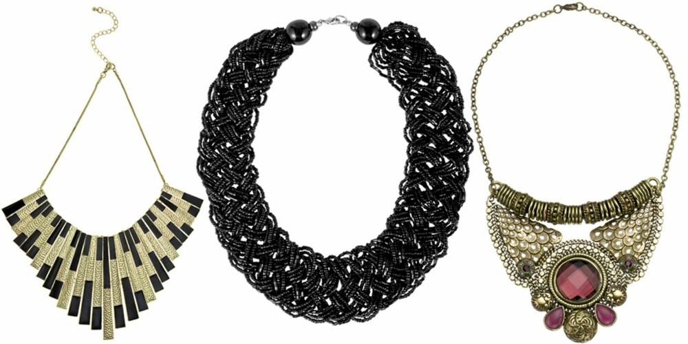 FRA VENSTRE: French Connection (kr 375), Indiska (kr 79), Accessorize (kr 155).