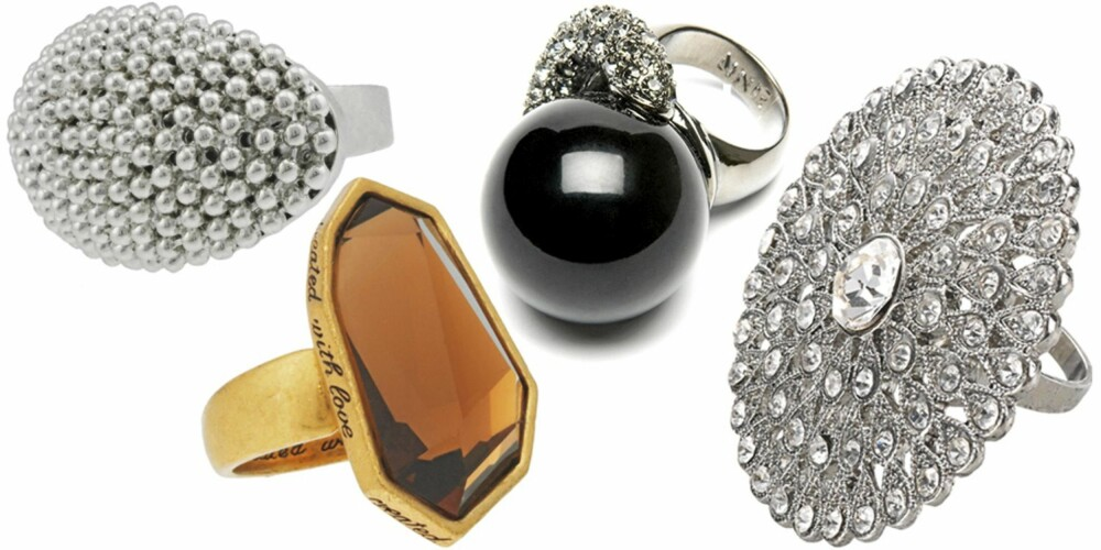 FRA VENSTRE: Glitter (kr 119), Arts & Craft (kr 349), Mango (kr 249), Accessorize (kr 169).
