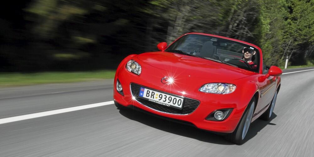 MYE FOR PENGENE: Mazda Mx-5 er sportsbilen som gir deg mest for pengene til dags dato.