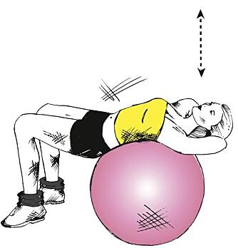 SITUPS: Bruk fitnessball eller bosuball.