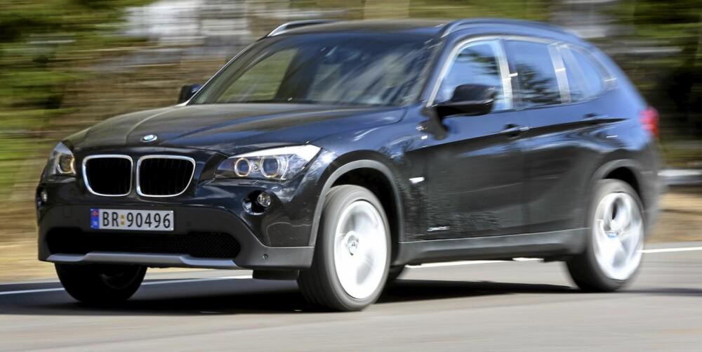 KJØREGLAD: BMW X1 er crossoveren som byr på de mest underholdende kjøreegenskapene.
