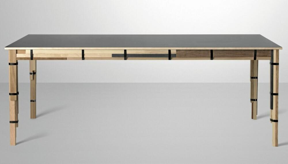 KAPPEFLID: Bordet Keep er lagd av kapp fra møbelproduksjon, kr 24 900, muuto.com