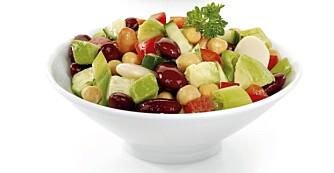 Salat til lunsj er lett og lettvint. Kanskje du skal prøve denne varianten?
