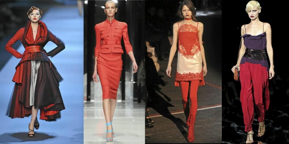 CATWALK: Christian Dior, Versace, Givenchy og Marc Jacobs brukte alle rød.