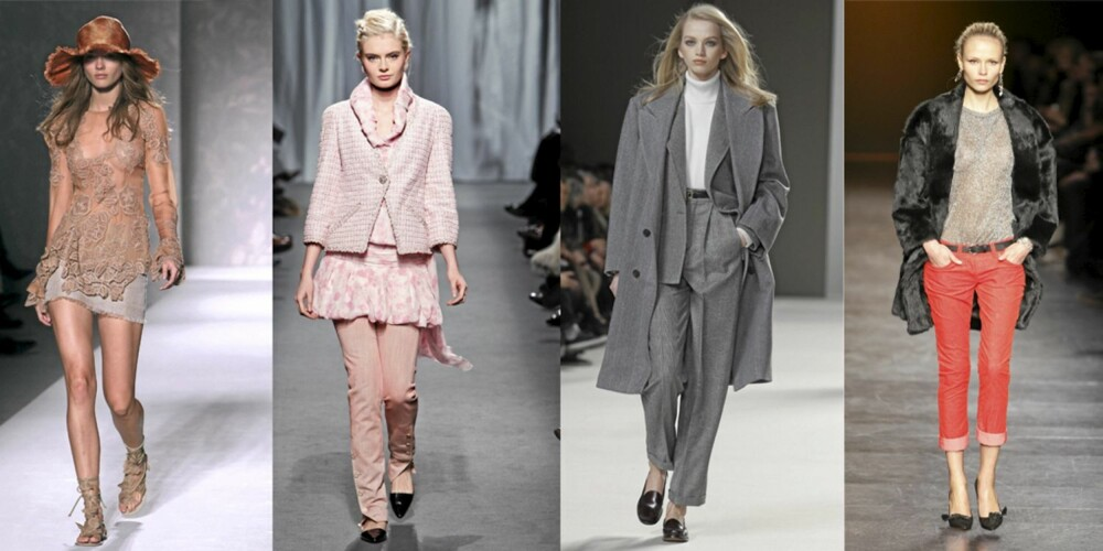 LAVE SKO: Alberta Ferretti, Chanel, Chloe og Isabel Marant med lave sko på sine visninger.