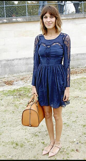 IT-JENTE: Alexa Chung på Chloe sin vår/sommer 2011 visning. Alltid først ute med det nyeste.