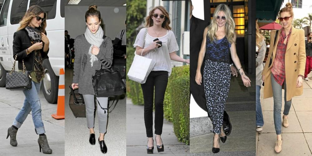 ANKELLENGDE: Rachel Bilson, Jessica Alba, Emma Roberts, SIenna Miller og Whitney Port har lagt sin elsk på de korte buksene.