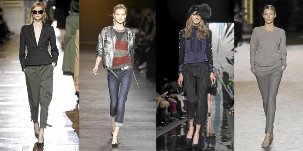 ANKELLENGDE: Dries Van Noten, Isabel Marant, Diane von Furstenberg og Stella McCartney viste kortere bukser på catwalken.
