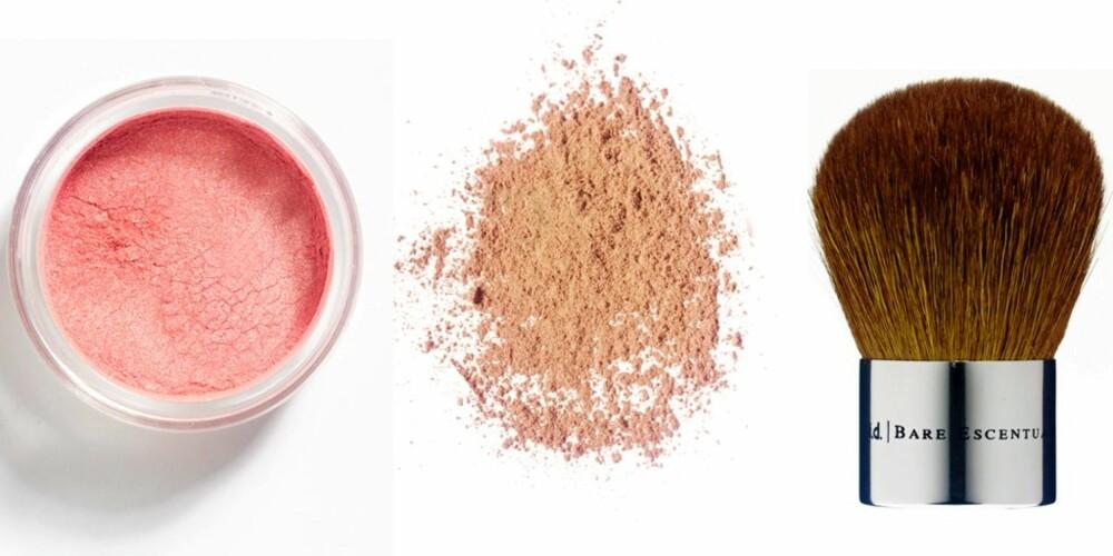 NATURLIG: Mineralsminke er et fint alternativ for uren hud. Bare Minerals, Youngblood og Jane Iredale er noen eksempler på gode mineralsminkemerker.
