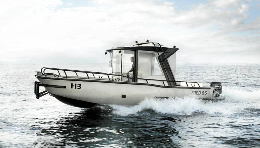 NESTEN: Svenske Fred 25 fra Hanterbara Båtar AB ser nesten ut som en vanlig aluminiumsbåt.