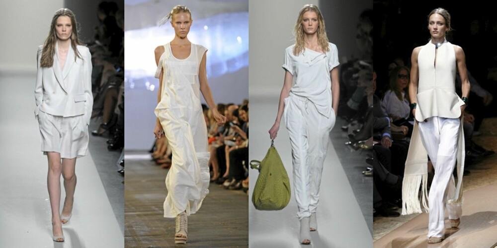 HELHVITT: Hvite anterkk fra Bottega Veneta, Alexander Wang og Celine.