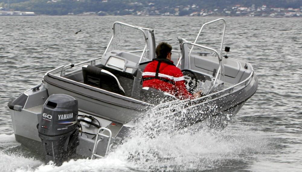 GÅR PENT: Sjøegenskapene er blant de beste i denne klassen.