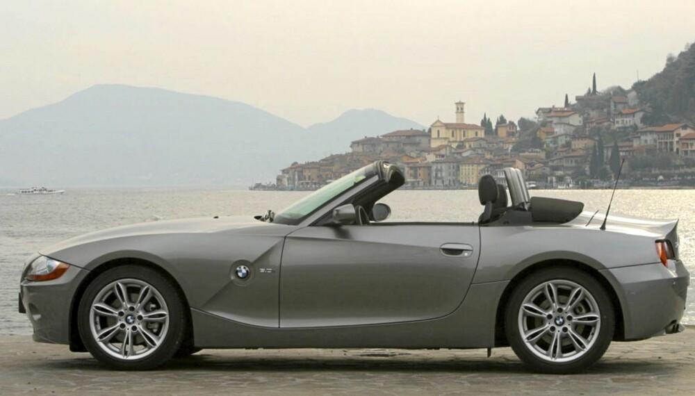 PÅ TUR: En brukt BMW Z4 på tur i Europa kan bli en herlig bilopplevelse.