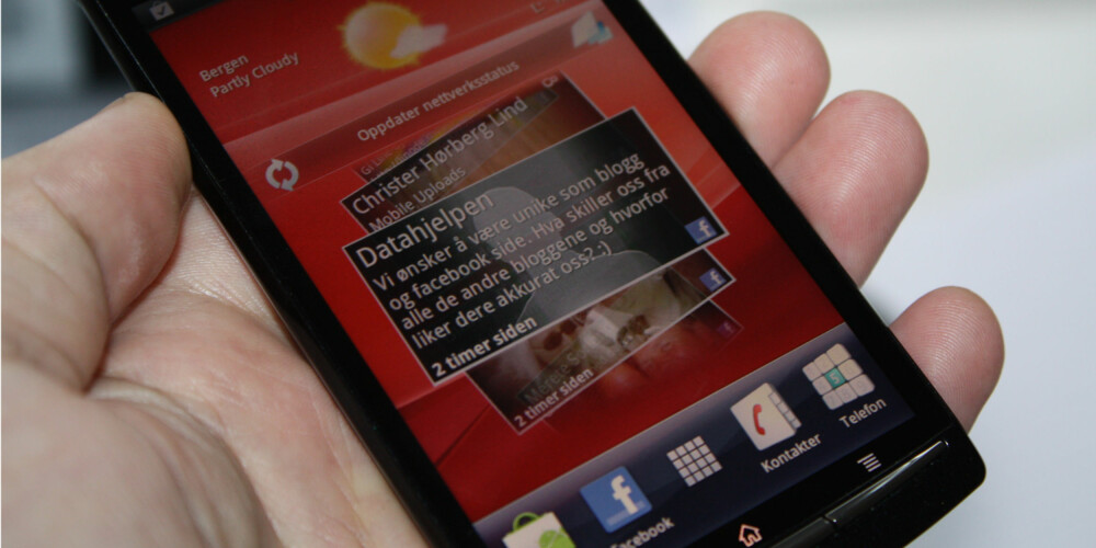 KREVENDE: Widgets kan dra mye ressurser fra telefonen din.