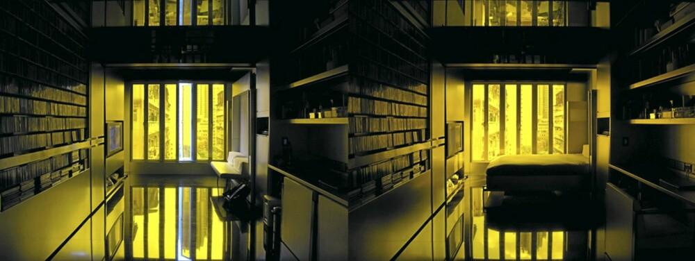 SEKSJON: Møblene felles opp og ned, veggene er delt inn i seksjoner som skyves ut og inn