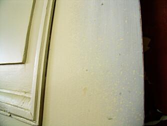Spytter: Bruker du malingen rett fra boksen, så vil sprøyta spytte, derfor er det viktig å finne riktig blandingsforhold.