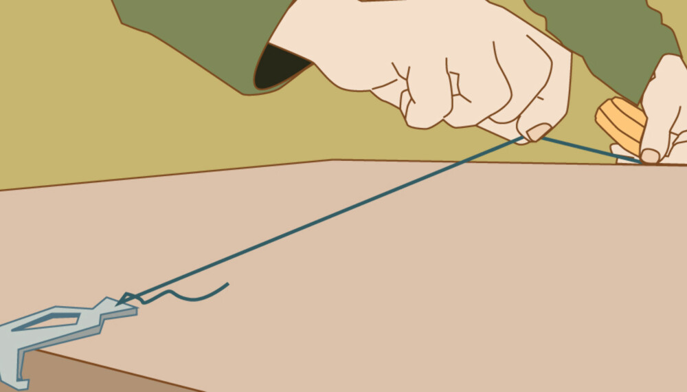Snorrett: Stram, strekk og slipp. Da får du en helt rett strek mellom to punkter.