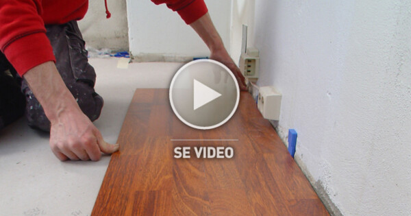 legge parkett eller laminat gulv oppussing. Black Bedroom Furniture Sets. Home Design Ideas