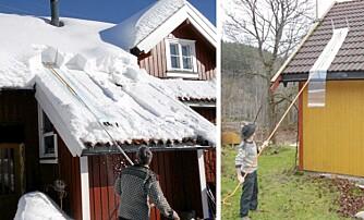 SNOWING: Takmåke produsert av Ekelund Smed. Kr 1500